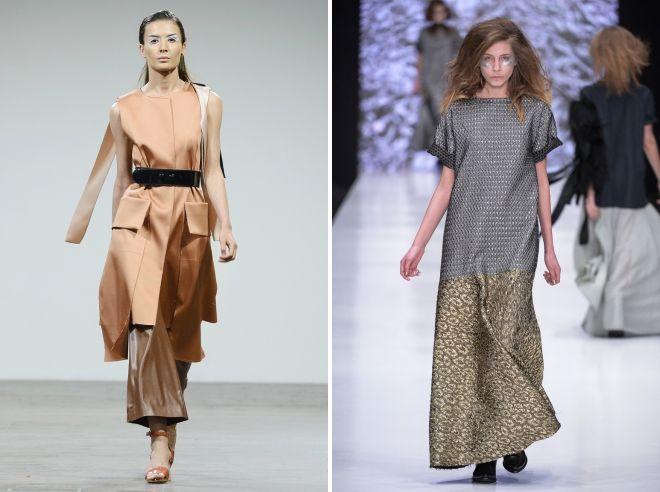 стильные платья балахон