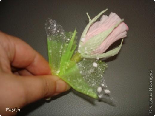 Мастер-класс, Свит-дизайн Моделирование: Бутон розы МК Бумага гофрированная. Фото 29