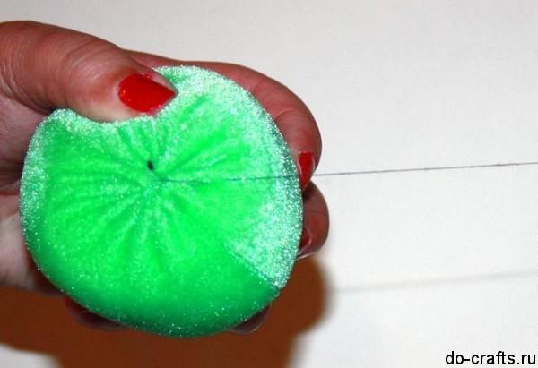 Яблоко из бархата-велюра 9