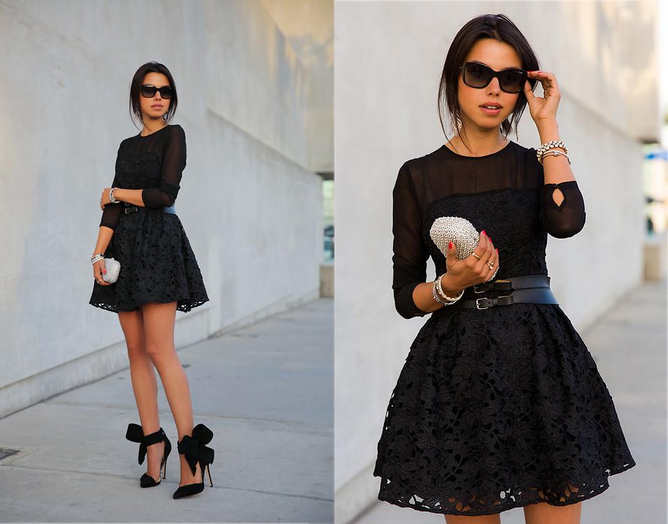 Стильные платья кружево