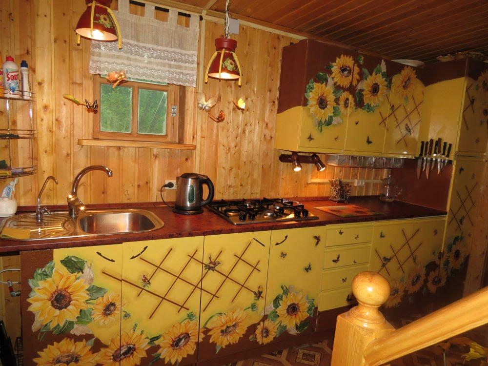 Как обновить старую кухню своими руками видео