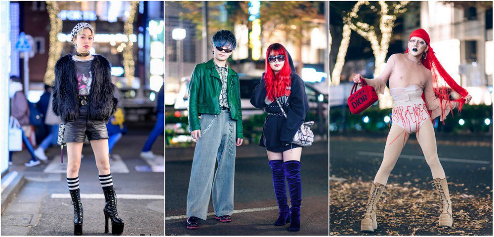 Модные персонажи на улицах Т…