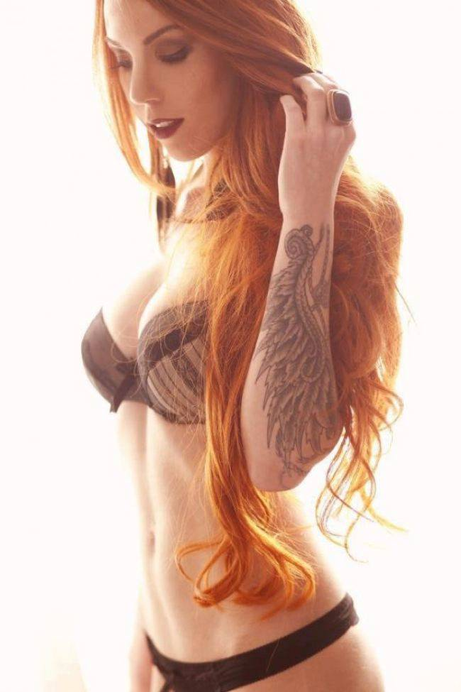 tattooed ginger stripper is taking part in threesome  178992