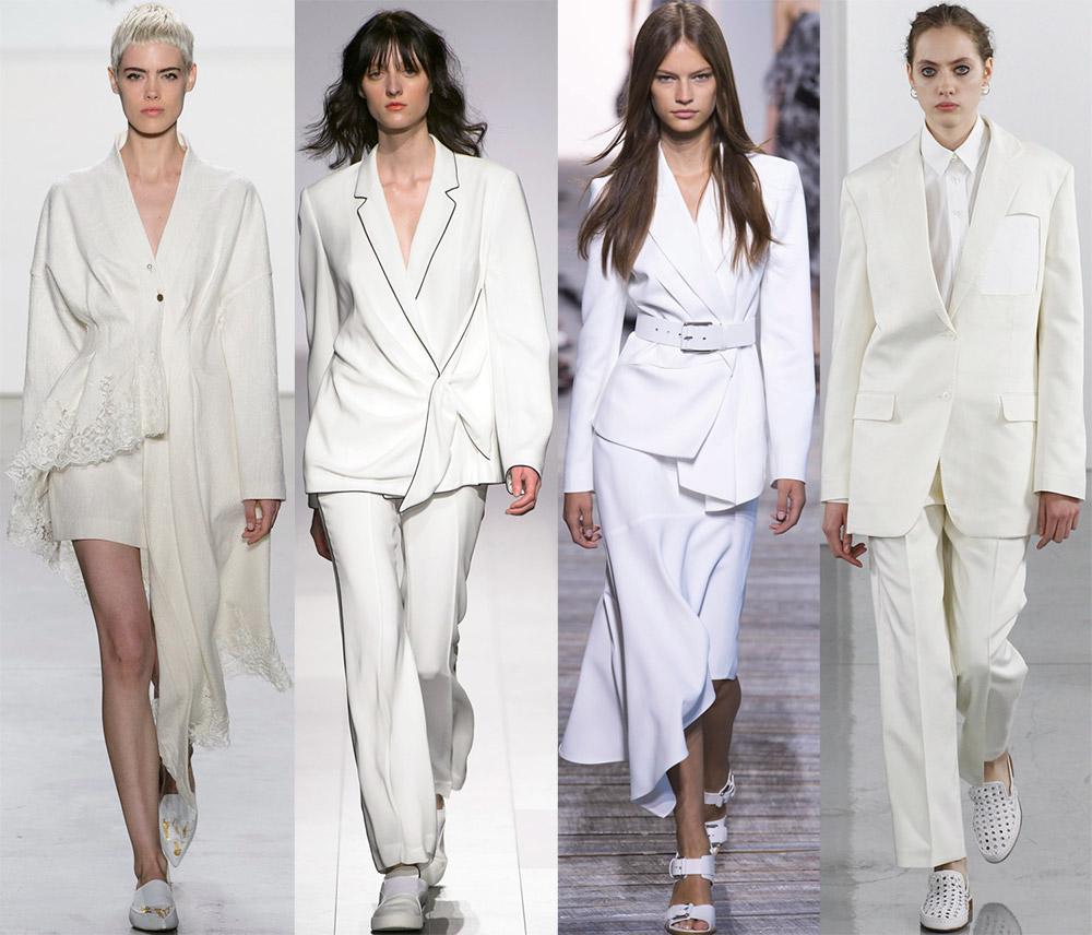 Женские костюмы белого цвета 2018 — новинки из последних коллекций с фото