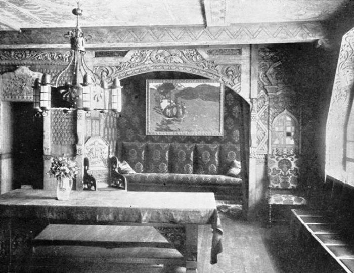 Столовая в доме Перцовой. /Фото начала прошлого века.