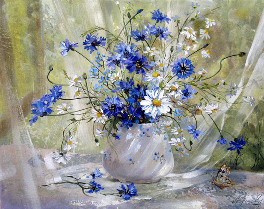 Цветы полевые картины