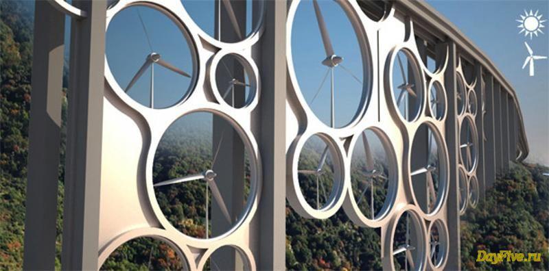 Ветровые турбины, интегриров…