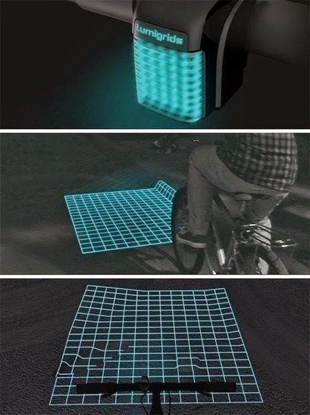 Необычный фонарик для ночных прогулок на велосипеде