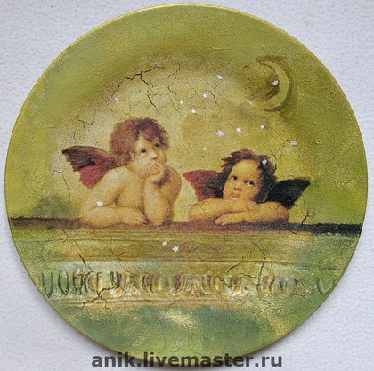 """Декоративная посуда ручной работы. Ярмарка Мастеров - ручная работа """"Два ангела"""". Handmade."""