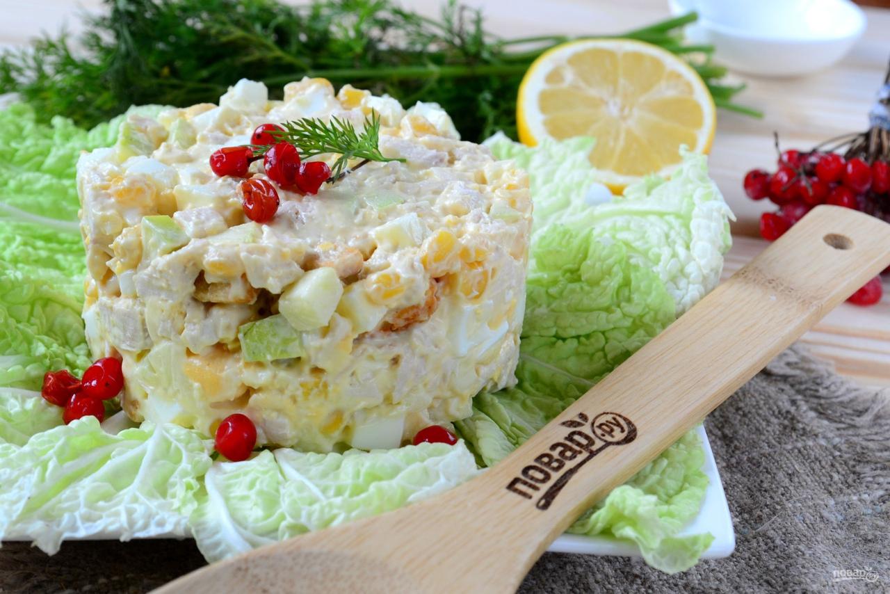 Салат из кукурузы и куриной грудки