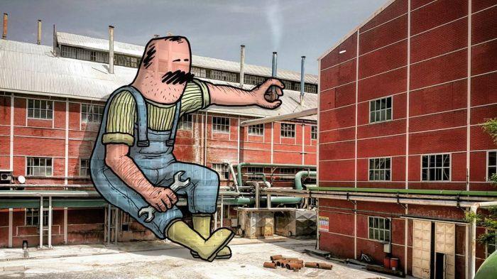 Гиганты в городе – рисунки Хекана Келеша