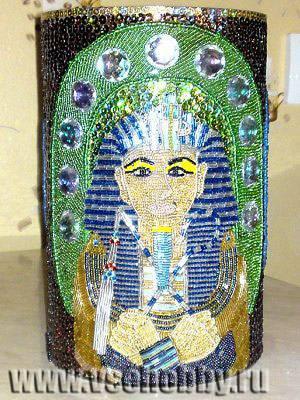 Декор вазы своими бисером