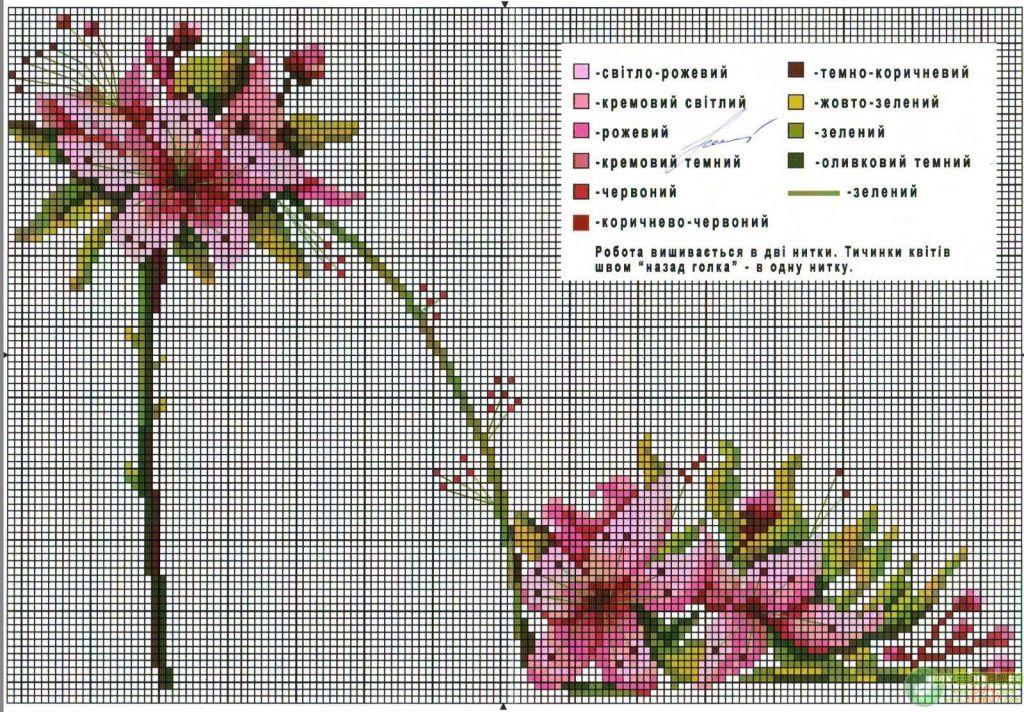 Схемы для вышивки крестом цветы 77
