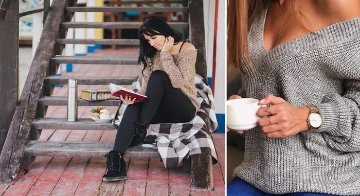 модные свитера спицами