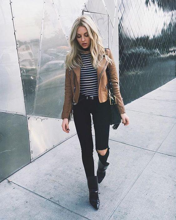 С чем носить джинсы черного цвета