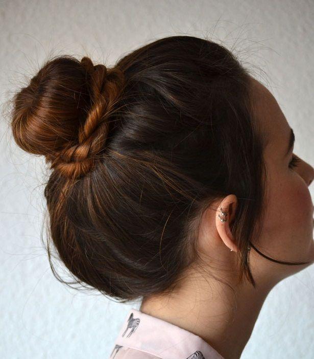 прически с doughnut на длинные волосы