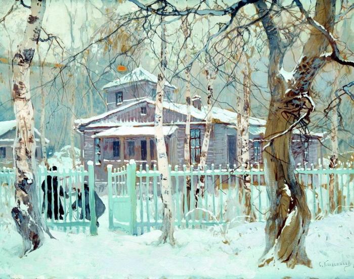 Зима и художники