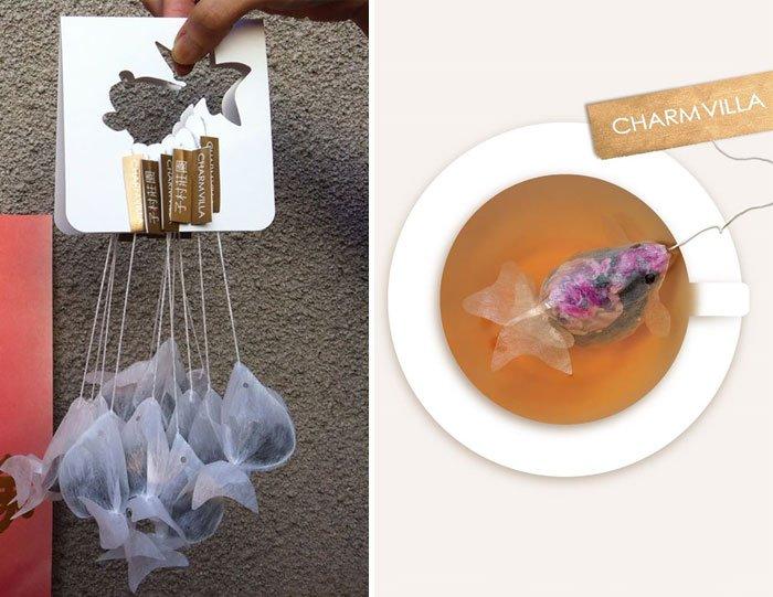 Чайные пакетики – золотые рыбки
