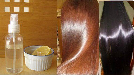 Распылите это на Ваши чистые волосы и они будут выглядеть глянцевыми и шелковистыми долгое время