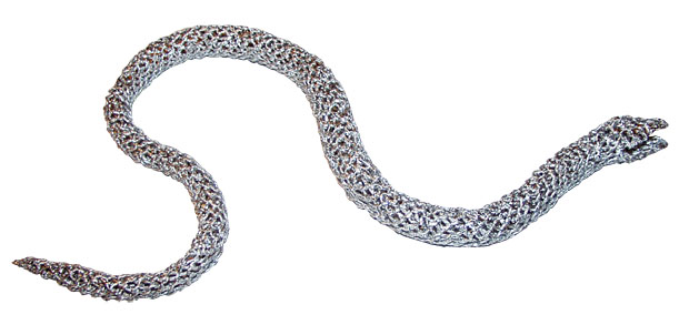 Змея - плетение из фольги - своими руками. Символ 2013 года. Мастер-класс Олеси Емельяновой. Заготовка змеи