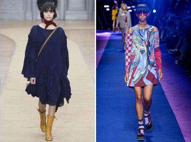 стильное платье балахон