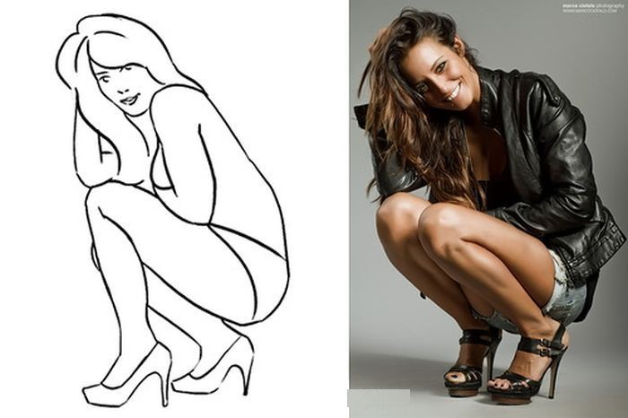 Фотографии женских попок сидящих женщин на коленях фото 5-847