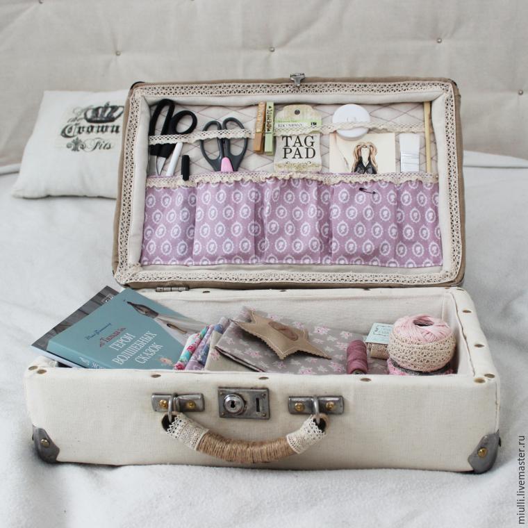 «Из ненужного в необходимый!»: переделка старого чемодана в авторский аксессуар рукодельницы