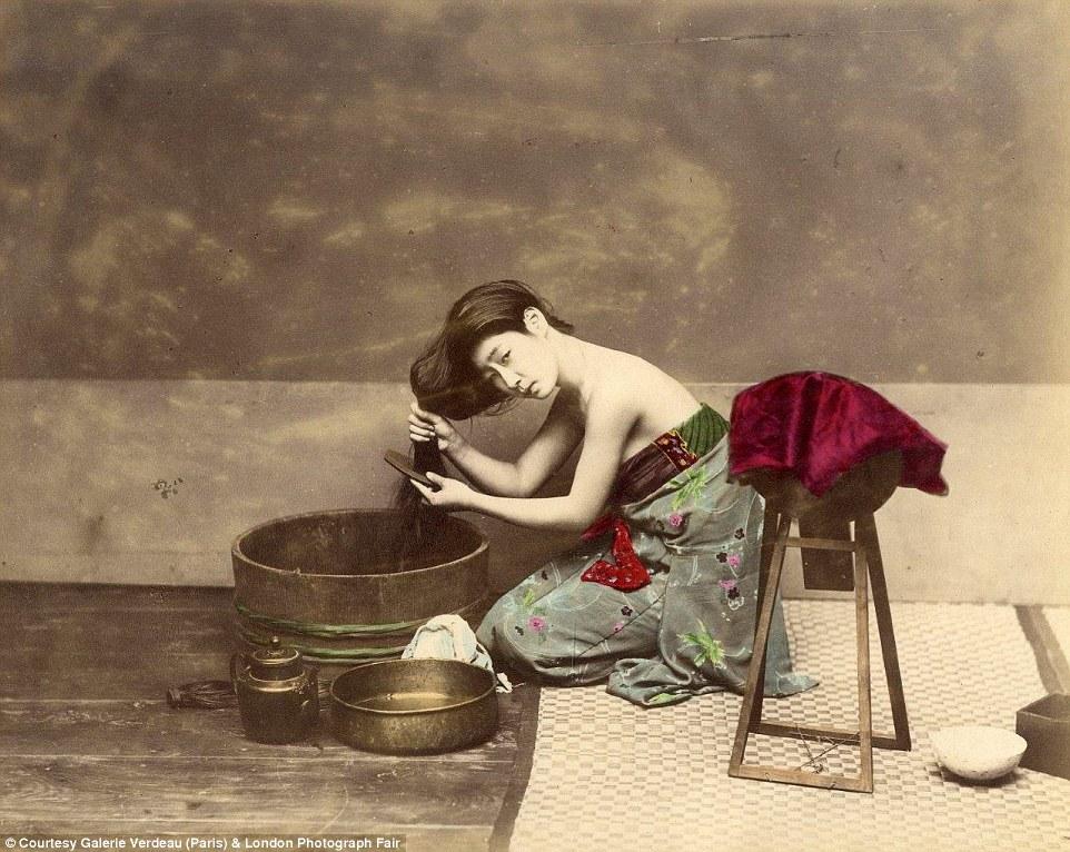 Куртизанки и самураи: редкие  цветные фотографии из жизни  Японии 19-го века