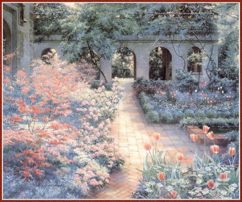 Цветущий сад американской художницы Barbarа Hails