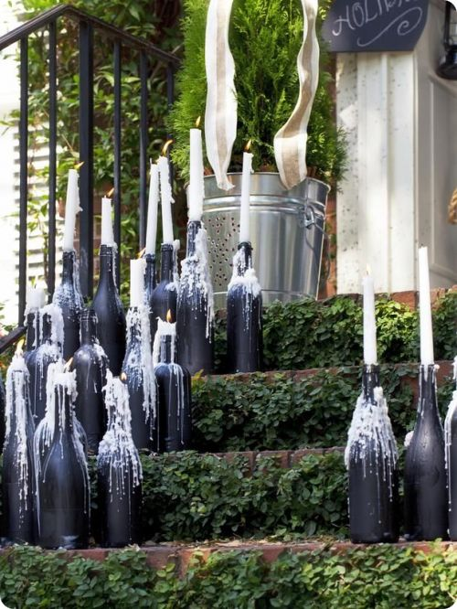 Что сделать с бутылками из-под вина — 20 идей