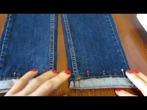 """Мастер-класс """"Как подшить джинсы, оставив производственные потертости"""""""