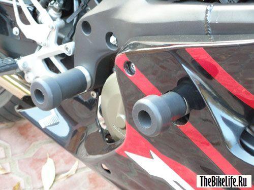 Слайдеры для защиты мотоцикла.