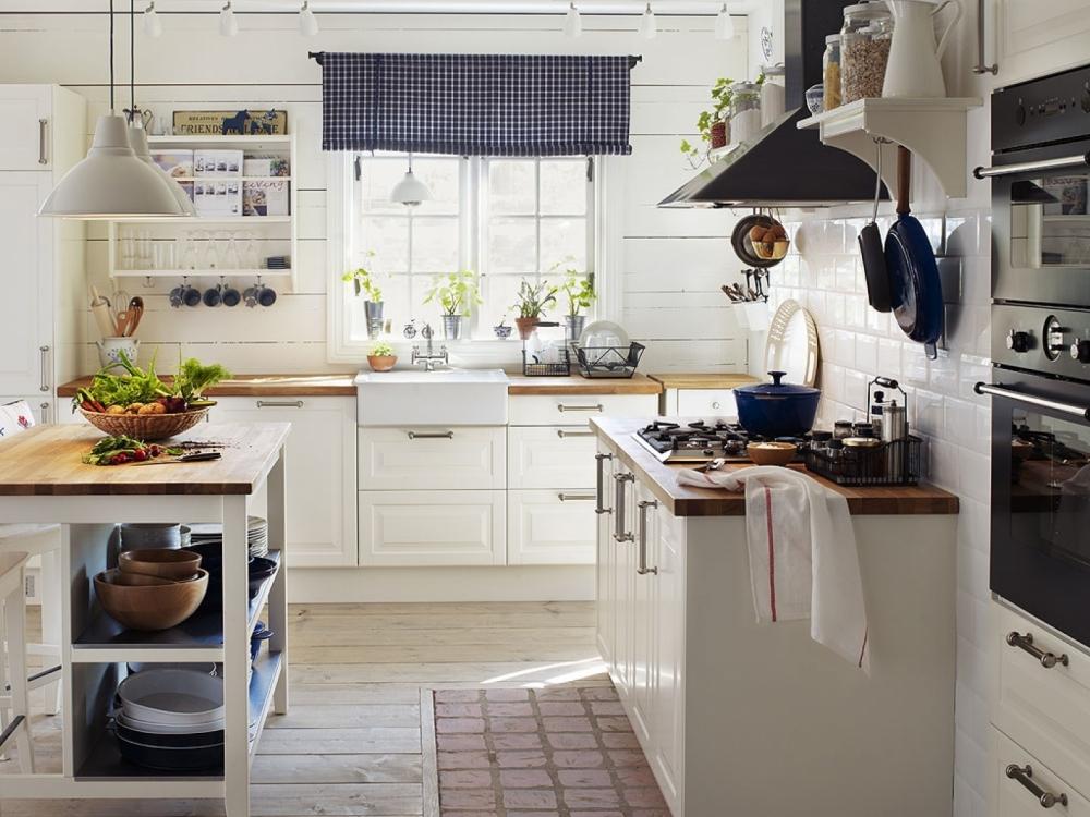 Кухни в стиле прованс от IKEA - это более современная интерпретация стиля.
