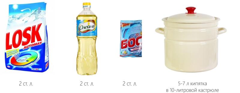 средства для выведения пятен на кухонных полотенец