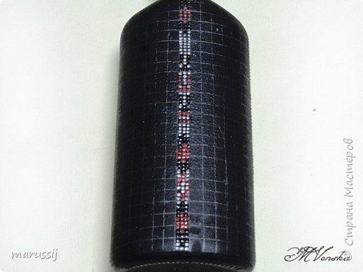 Декор предметов Мастер-класс Роспись По мотивам вышивки Бутылки стеклянные фото 10