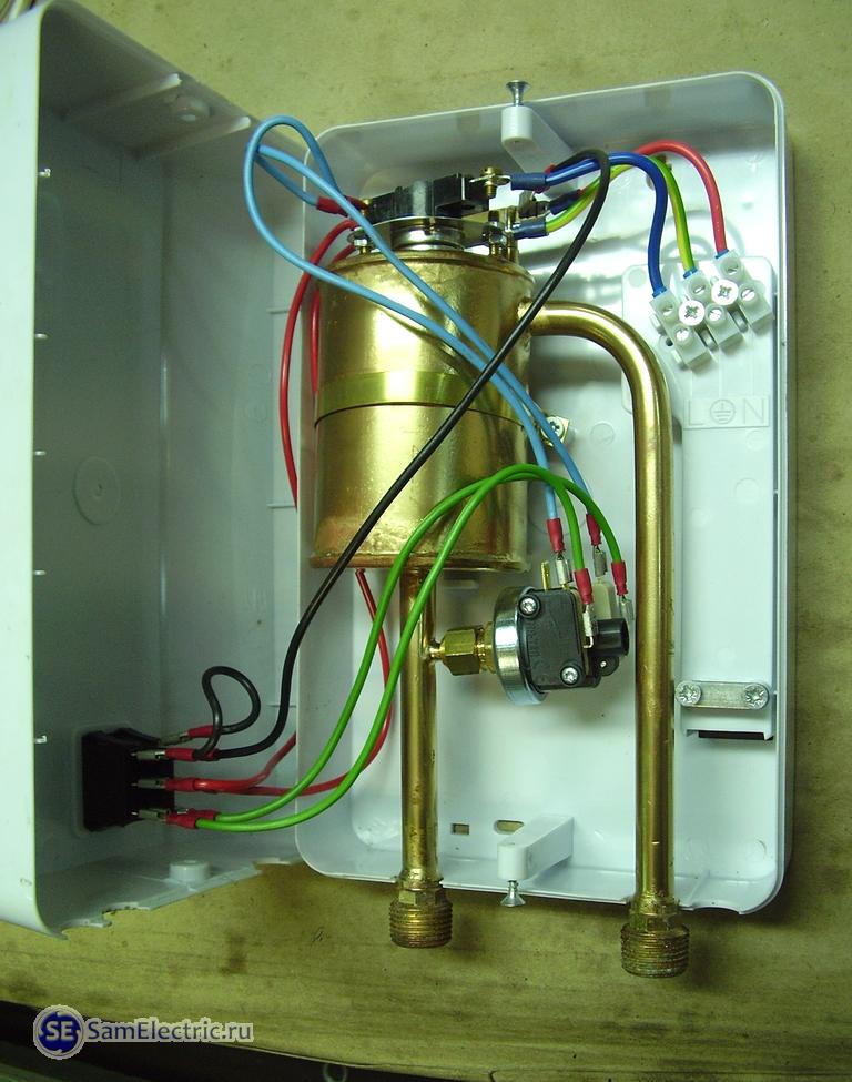 Электрический проточный водонагреватель своими руками