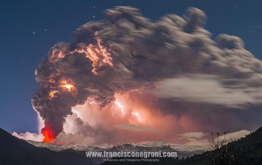 Извержение вулкана Кордон Кауле вулкан, фото