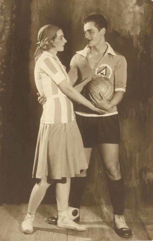 """Персонажи балета В. Оранского """"Футболист"""" в Большом театре. Москва, 1929 год."""
