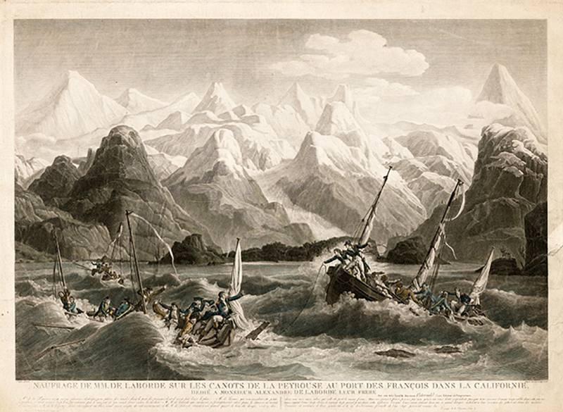 Кругосветная экспедиция Лаперуза. «Буссоль» и «Астролябия» закрывают острова