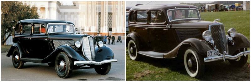 ГАЗ-М-1(1936-1943)-Ford Model B(1934-1935) автомобили, история, ссср, факты