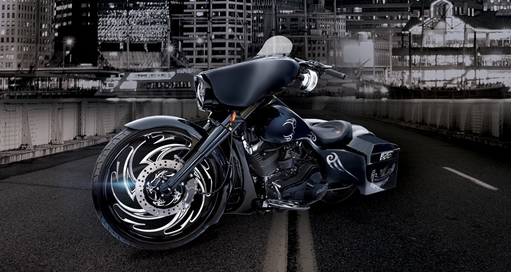 Havoc Motorcycles: баггер Iron Flight: Mike Tyson Special Edition