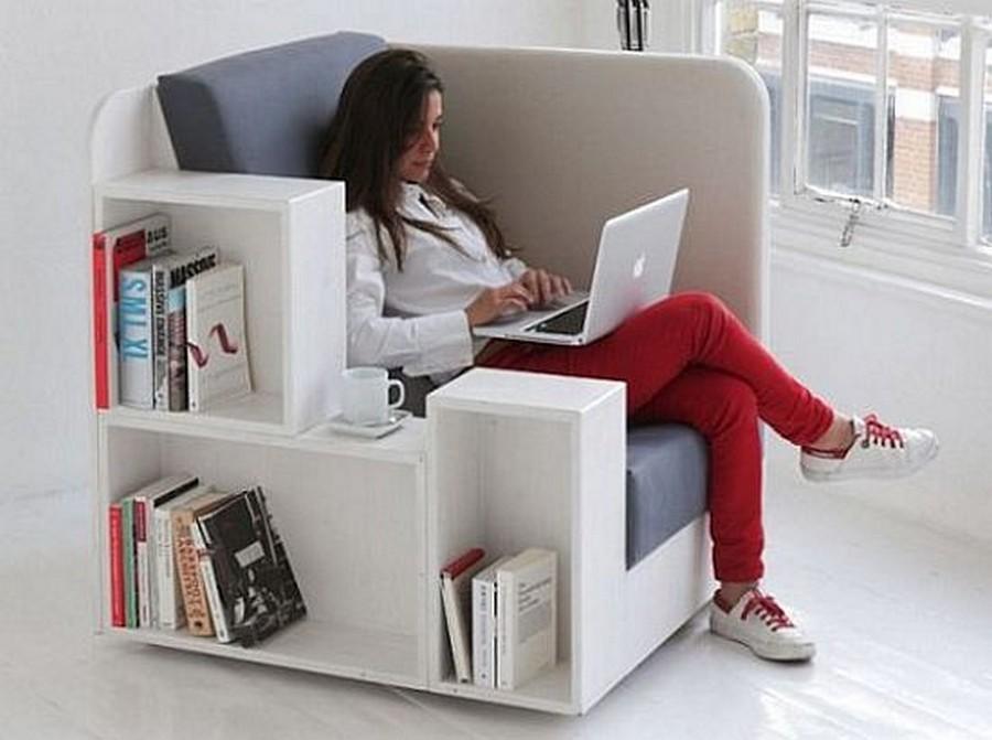 Модульное и многофункциональное кресло-офис 2