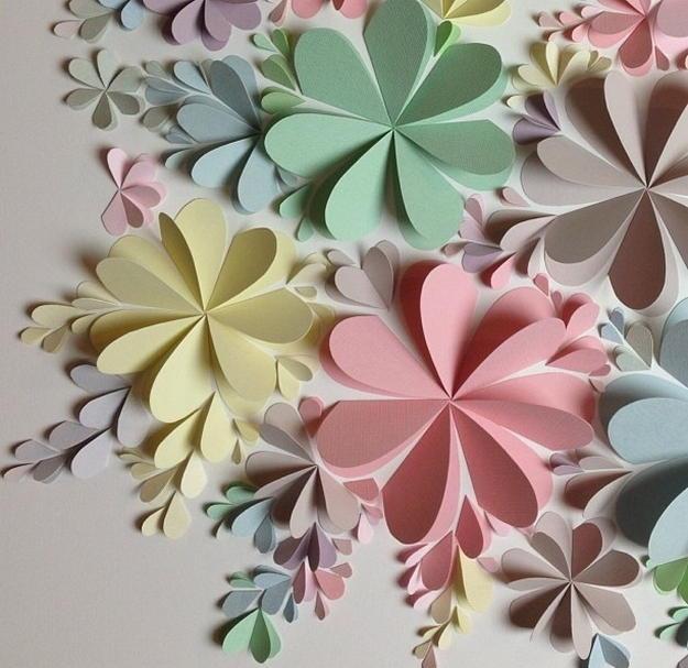 Цветы из бумаги своими руками мастер класс
