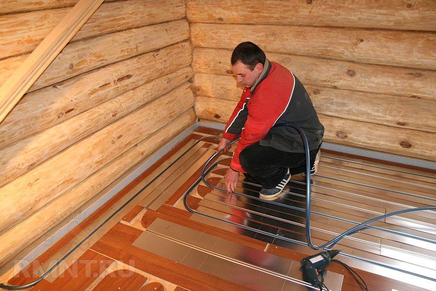 Как сделать подогрев пола в деревянном