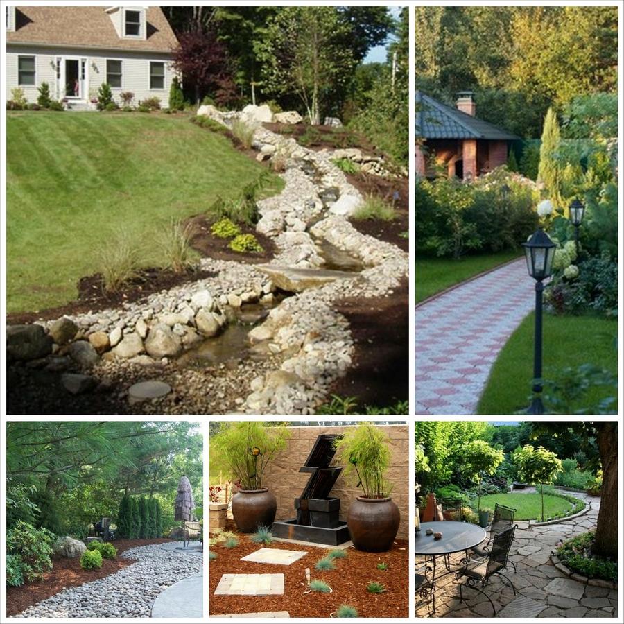 Примеры озеленения территории частного дома