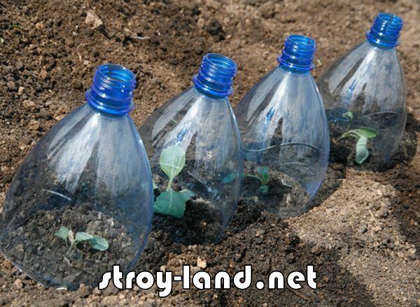 Поделка из пластиковых бутылок для огорода № 2