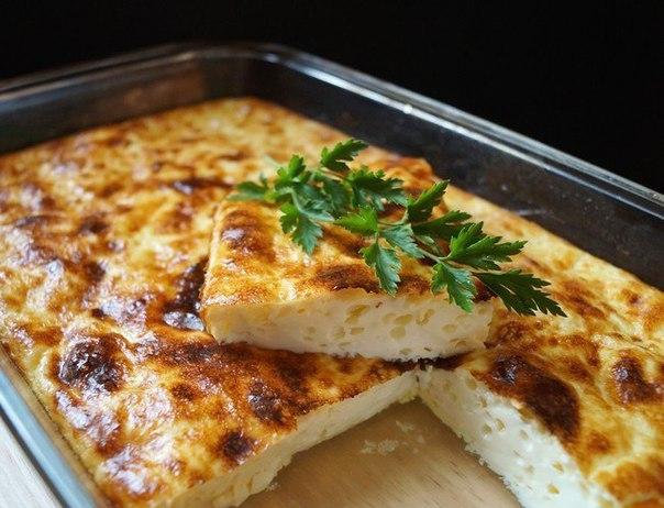 Омлет с макаронами в духовке рецепт