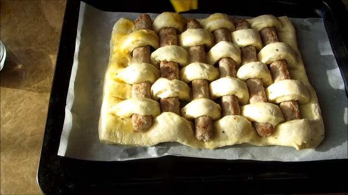 Для этого рецепта берите свои любимые сосиски Сосиска в тесте, Пирог, Тесто, Вкусно, Готовка, Рецепт, Другая кухня, Длиннопост, Видео рецепт, Видео