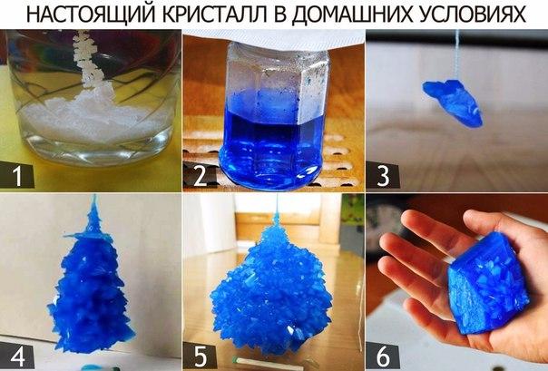 Как сделать кристаллы в домашних условиях из медного купороса