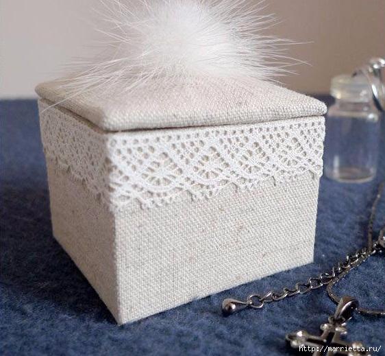 Шкатулка-комод из картона. Автор Елена Никитина